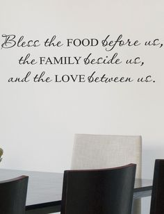 Bless the Food Before Us, The Family Beside Us & The Love Between Us #decal