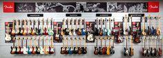 Fender Stratocaster setup.