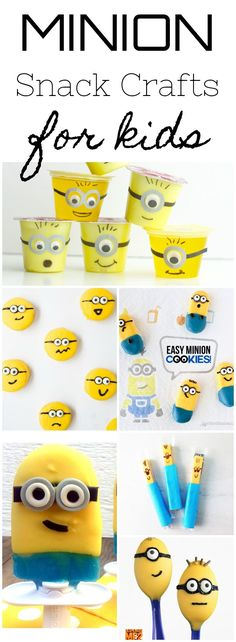 A collection of the cutest Despicable Me Minion inspired crafts...that you can eat! Make these fun snack crafts before you head out to see Despicable Me 3 in theaters this summer!