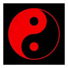 Shop Red & Black Yin Yang Symbol Poster created by yarddawg. Skull Tattoos, Tribal Tattoos, Tatoos, B The Beginning, Yin Yang Art, Black Aesthetic Wallpaper, Miraclous Ladybug, Aesthetic Drawing, Fire And Ice