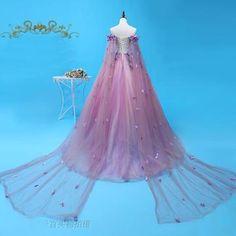 Lovely Light Purple Long Cloak Ball Gown (Customer may customize) Renaissance Mode, Renaissance Dresses, Renaissance Fashion, Medieval Dress, Formal Dance, Formal Gowns, Rapunzel Halloween Costume, Masquerade Ball, Cloak
