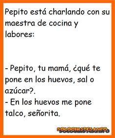 Pepito y la  maestra de cocina