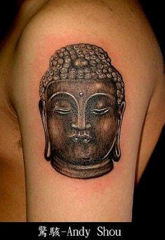 like a bronze statue #Buddha #tattoo