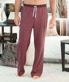 The Men's Thermal Lounge Pants is an essential for those chilly nights. Cozy waffle weave knit lounge pants are ideal for sleeping or just lounging Sleep Pants, Lounge Pants, Thermal Wear For Men, Harem Pants, Pajama Pants, Thermal Long Sleeve, Fashion Night, Plaid Flannel