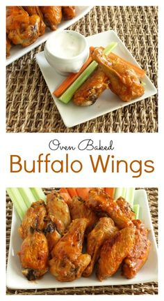 It couldn't be easier to make these Buffalo hot wings at home! The outside still gets nice and crispy! Baked in the oven, these taste just as delicious.