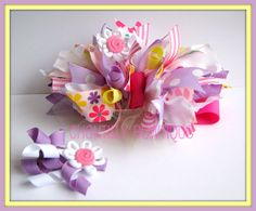 hair bows for girls | ... Bow set and a Boutique Blossom Headband for the girls who prefer a
