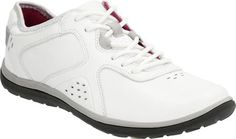 Clarks Womens Aria Lace Up ShoeWhite LeatherUS 6 W ** Learn more by visiting the affiliate link Amazon.com on image.