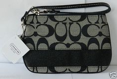 Tradional Coach Design Wristlet. New With Tags.Light Black.  Starting At $32.99. Free Shipping. Check Retail.