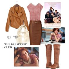 The Breakfast Club-Molly Ringwald by lynda-sager on Polyvore featuring polyvore, fashion, style, Diesel, Polo Ralph Lauren, Frye, Hoorsenbuhs, Oasis, clothing and 80's