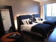 インテリアコーディネート ベッドルーム・寝室|色使いをおさえると、こんなに落ち着いたベッドルームが出来上がります。