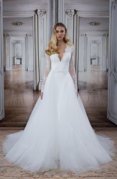 The new Pnina Tornai wedding dresses have arrived! Take a look at what the latest Pnina Tornai bridal collection has in store for newly engaged brides. Klienfeld Wedding Dresses, Bridal Gowns, Gown Wedding, Lace Wedding, 2017 Wedding, Mermaid Wedding, Garden Wedding, Pnina Tornai Dresses, Bridal Fashion Week