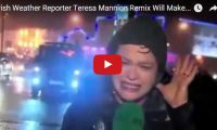 Irish Weather Reporter Teresa Mannion Remix Will Make Your Day  Wow. What a trooper! Before you watch the remix, perhaps you should watch this vid first to understand why this awesome Irish weather reporter, Teresa Mannion was flooded with Internet glory after her over-the-top storm live shot performance. She was even reportedly hit by a flying stop sign...
