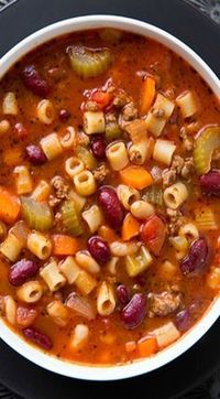 Copycat Olive Garden pasta e fagioli soup recipe! Just as delicious, if not…