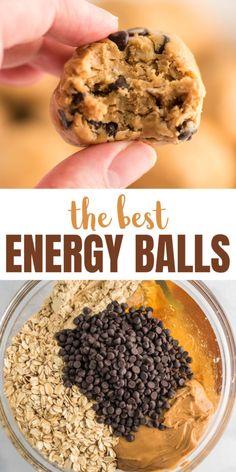 Oatmeal Energy Balls Recipe, Oatmeal Energy Bites, Healthy Energy Bites, Vegan Energy Balls, No Bake Energy Bites, Protein Bites, Energy Bars, High Protein, Healthy Sweet Snacks