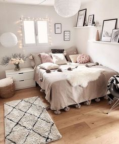 Cute Girls Bedroom Ideas For Small Rooms Room, Home Bedroom, Home Decor, Stylish Bedroom, Small Room Bedroom, Room Decor, Room Decor Bedroom, Bedroom Decor, Cozy Room