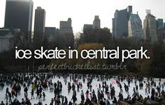 Ice skate in Central Park. Bucket List