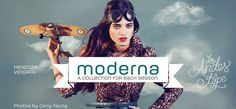 Moderna Unicase Medium free font inspired by simplicity of Modernism
