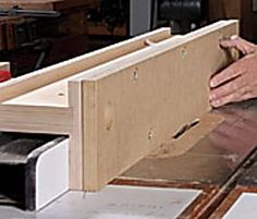 Supercharge Your Rip Fence - Fine Woodworking Article Table Saw Fence, Table Saw Jigs, Table Saw Accessories, Shaker Furniture, Woodworking Jigs, Woodworking Articles, Baltic Birch Plywood, Tool Storage, Wood And Metal