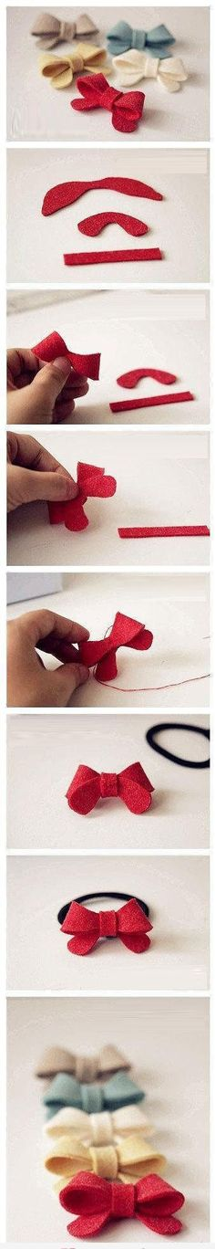 Little Bows  http://www.fashiondivadesign.com/diy-interesting-easy-craft-ideas/