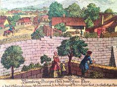 Vintage etching print Nuremberg Germany by MyFoundVintage on Etsy