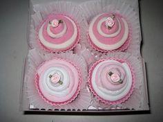 Cute baby gift- sock cupcakes ♥