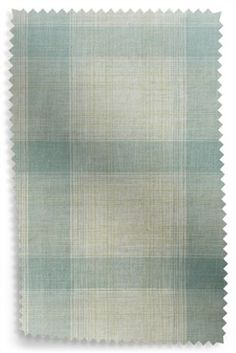 Teal Textured Woven Check Curtain Fabric Sample