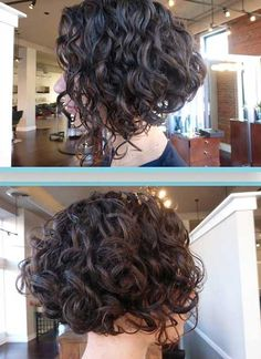 Inverted Curly Bob Hair