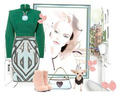 """""""autumn sketch"""" by yourstyle045 ❤ liked on Polyvore featuring mode, Balmain, Hervé Léger, Juicy Couture en Fendi"""