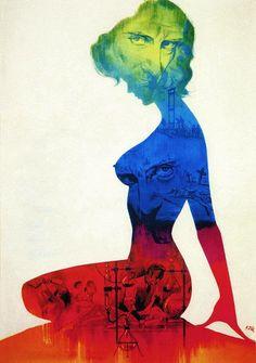 "German poster art for ""Frankenstein Created Woman,"" 1967"