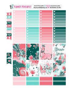 Free Printable Llama Love Planner Stickers