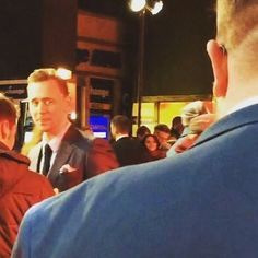"""willgav: """"Yes, that is Tom Hiddlestone checking me out on the red carpet... scoping out the competition for the next Bond I reckon #KongSkullIsland #BBB"""" (https://www.instagram.com/p/BREMSzDgzzV/ )"""