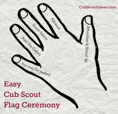 Easy Cub Scout Flag