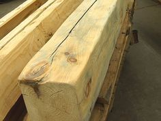 The mantel beam prior to staining.