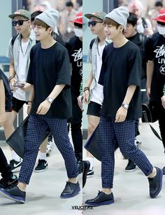 Airport fashion: BTS' V