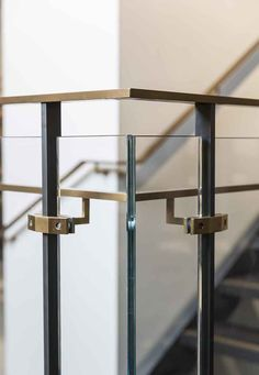 Outrigger stair outside corner with handrail 0239 Stair Handrail, Staircase Railings, Bannister, Modern Railing, Modern Stairs, Interior Staircase, Staircase Design, Fitted Bedroom Furniture, Staircase Runner