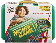 WWE Green Money In the Bank - Carrying Case Mankind Wwe, Wwe Accessories, Wwe Party, Wwe Birthday, Wwe Money, Banks Logo, Wwe Toys, Wwe Action Figures, Money In The Bank