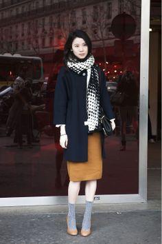 Socks and heels Paris Fashion Week Fall 2014 Street Style 2014, Looks Street Style, Street Chic, Street Wear, Fashion Week Paris, Paris Street Fashion, Fashion Mode, Asian Fashion, Net Fashion
