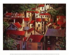 Rooftops II Print by Michael O'Toole at Art.com