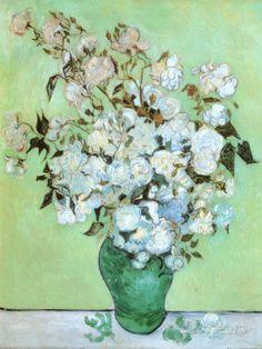 A Vase of Roses, c.1890 Prints by Vincent van Gogh at AllPosters.com