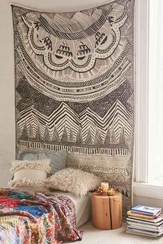 URBAN OUTFITTERS - 4040 Locust Altai Scratch Markings Tapestry $50US