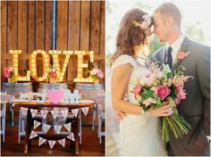 Love this gorgeous rustic wedding!! #VintageMarqueeLights