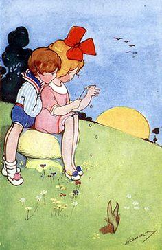 "Hilda Gertrude Cowham- (1873-1964) ""He loves me...."