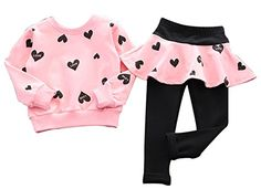 Baby Girl Clothes BomDeals Adorable Cute Toddler Baby Girls Clothes Set,Long Sleeve T-Shirt +Pants Outfit Pink) Baby Outfits, Kids Outfits Girls, Toddler Girl Outfits, Cute Outfits, Toddler Girls, Kids Girls, Sport Outfits, Toddler Fashion, Baby Girl Pants