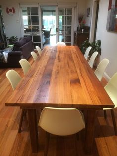 Brand new handcrafted recycled timber messmate hardwood dining table