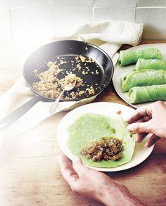 Dadar gulung (crêpes balinaises) pour 4 personnes - Recettes Elle à Table