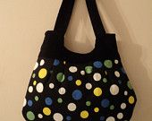 sale sale mjcreation bag purse in very cute  fabric polka dot