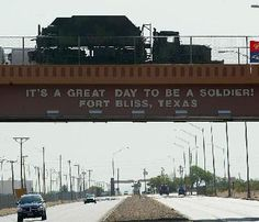 We love and appreciate our soldiers and their families!  Fort Bliss, El Paso, TX.  ~ElPasoNista
