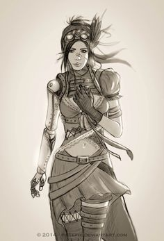 Victoria by Pistefix.deviantart.com on @DeviantArt  #digitalpainting #digitalart #portrait #fantasy #character #steampunk #concept #drawing