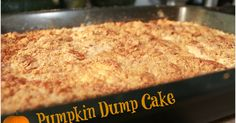 Get your fall foodie fix with this (super easy) Pumpkin Dump Cake! This is a favorite at our house, especially this time of year!    A...
