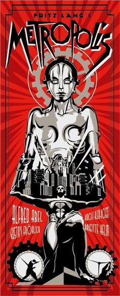 """Y siga siga el baile de María: otro póster contemporáneo de """"Metropolis"""", ahora de Rodolfo Reyes"""